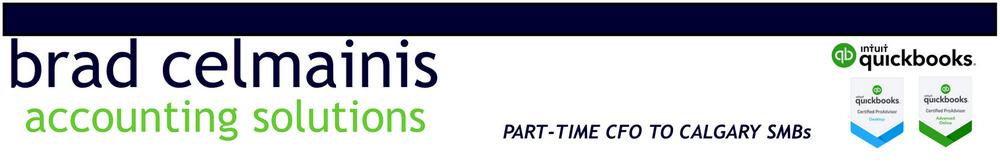 Brad Celmainis Part Time CFO Calgary Quickbooks ProAdvisor