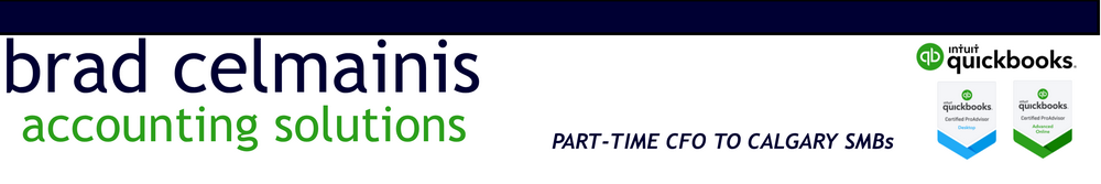 Brad Celmainis Calgary QuickBooks ProAdvisor Part Time CFO
